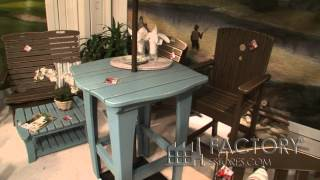 Uwharrie Chair Company Tall Dining Table - Factorypatiofurniture.com