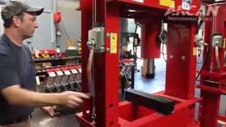 Arcan Air/Hydraulic Shop Press - 100-Ton(This Arcan Air/Hydraulic Shop Press has a sliding head design with winch and cable operation. U.S.A. For more information visit Northern Tool + Equipment: ..., 2013-01-16T15:35:56.000Z)