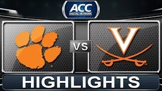 2013 ACC Football Highlights | Clemson vs Virginia | ACCDigitalNetwork