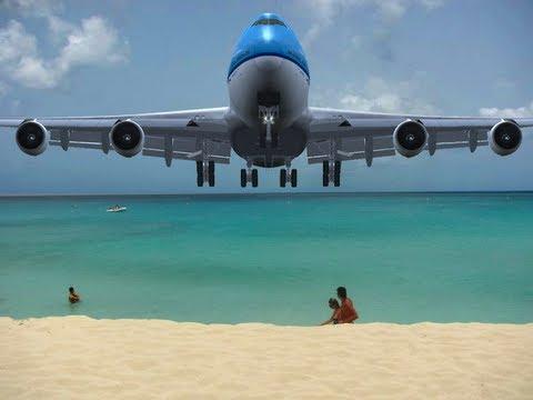 Is this too low? 747 Landing in St. Maarten