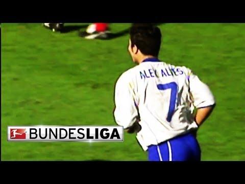 Best bundesliga goals - alves scores from 50 meters out