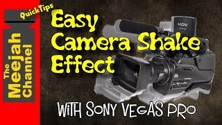 Easy Camera Shake Effect in Sony Vegas