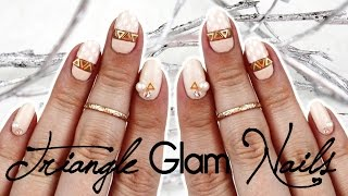 Triangle Glam Nails | Cut Out ♡