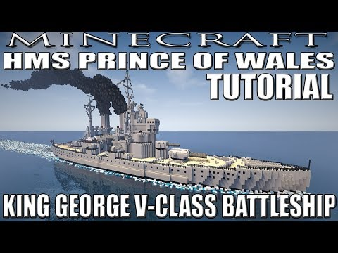 Minecraft : King George V Class Battleship Tutorial