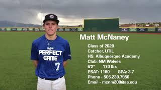 Matt McNaney - Summer Highlights - Class of 2020
