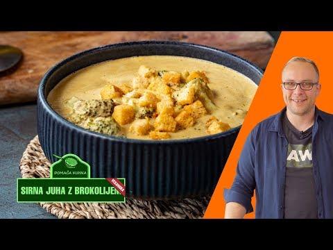 Veganska sirna juha z brokolijem