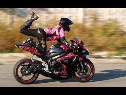 Amazing Girls Riding Big motorbike on Dangerous Way - Best skill female drivers