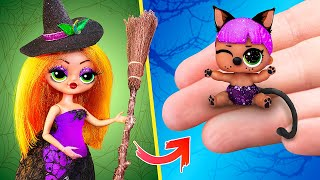 10 DIY Baby Doll Hacks and Crafts / Miniature Witch Baby, Cradle and More!