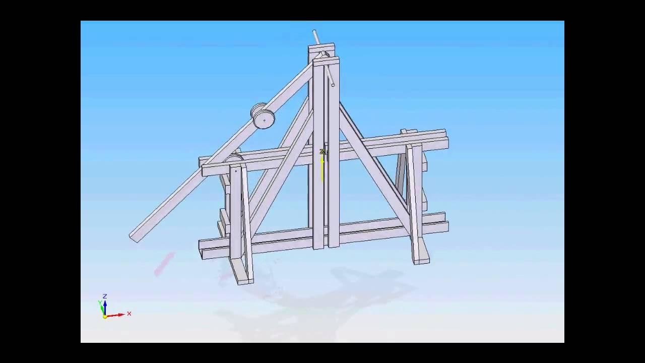 Floating Arm Trebuchet 3d Model Youtube