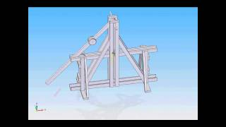 Floating Arm Trebuchet 3d-model