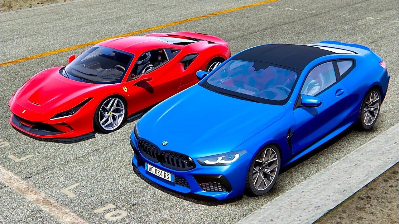Bmw M8 2020 Vs Ferrari F8 Tributo Highlands Youtube