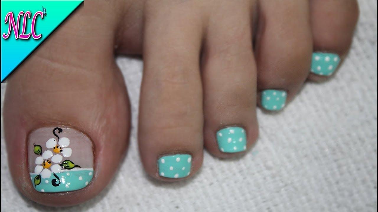 Decoraci n de u as flor para pies f cil de hacer flowers nail art nlc candy crush - Decoracion facil de unas ...