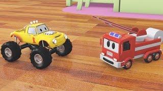 Construye un camión de bomberos con Lucas el Camioncito   Dibujos animados para niños