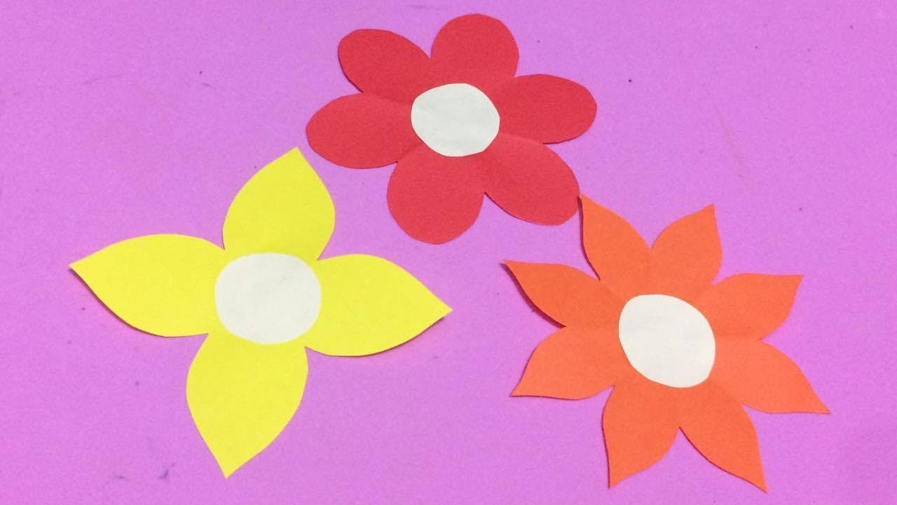 How To Make Easy Flower With Color Paper | DIY Paper Flowers Making