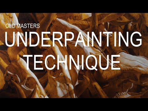 Old Masters underpainting technique (Jan Van Eyck)