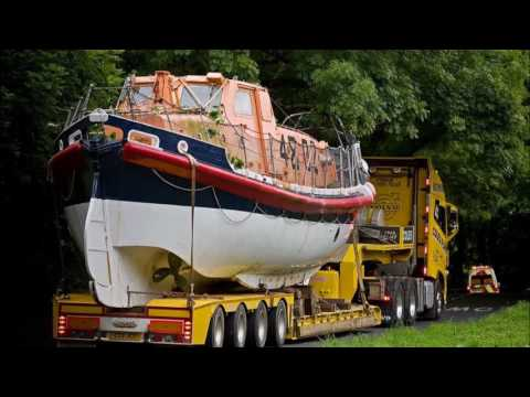 Land's End Lifeboat on the move by road