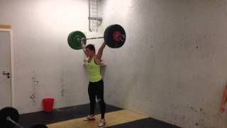 Snatch w. three second pause in bottom position: 70 x 3 reps by Mia Åkerlund