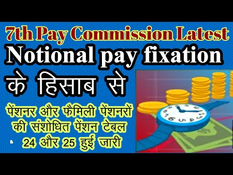 7th Pay Commission latest| Revision of Pension for all pensioners and #concordance table #pensioners