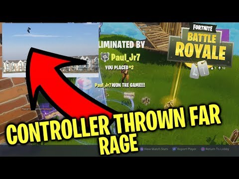 BIGGEST FORTNITE RAGE  PLAYER THROWS CONTROLLER FROM BALCONY Funny Fortnite Reaction