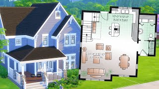 Can I recreate this real house in The Sims 4 from a floor plan?