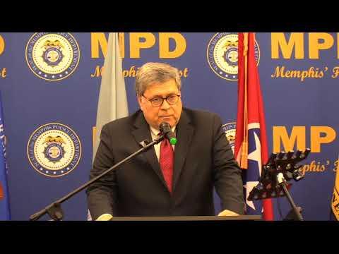 U.S. Attorney William Barr in Memphis