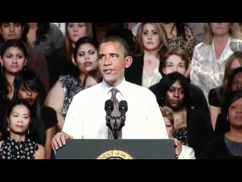 President Obama Speaks on the American Jobs Act Eastfield College, Mesquite, Texas Part 1 04Oct11