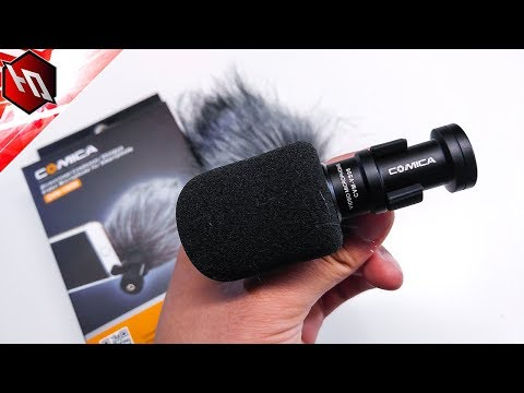 Comica CVM-VS08 Condenser Shotgun Mic for Smartphones (Unboxing & Sound Test)