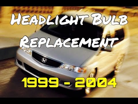 Honda Odyssey Headlight Bulb Replacement How To Install 1999 2004