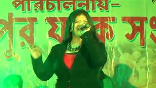Divyaa Roy Singing A Dancing Song || On Our Madhab Pur Yubak Sangha's 2K18 Saraswati Puja's Program