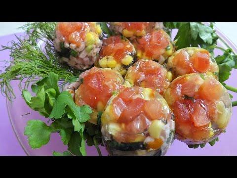 Заливные яйца Фаберже к Пасхальному столу.