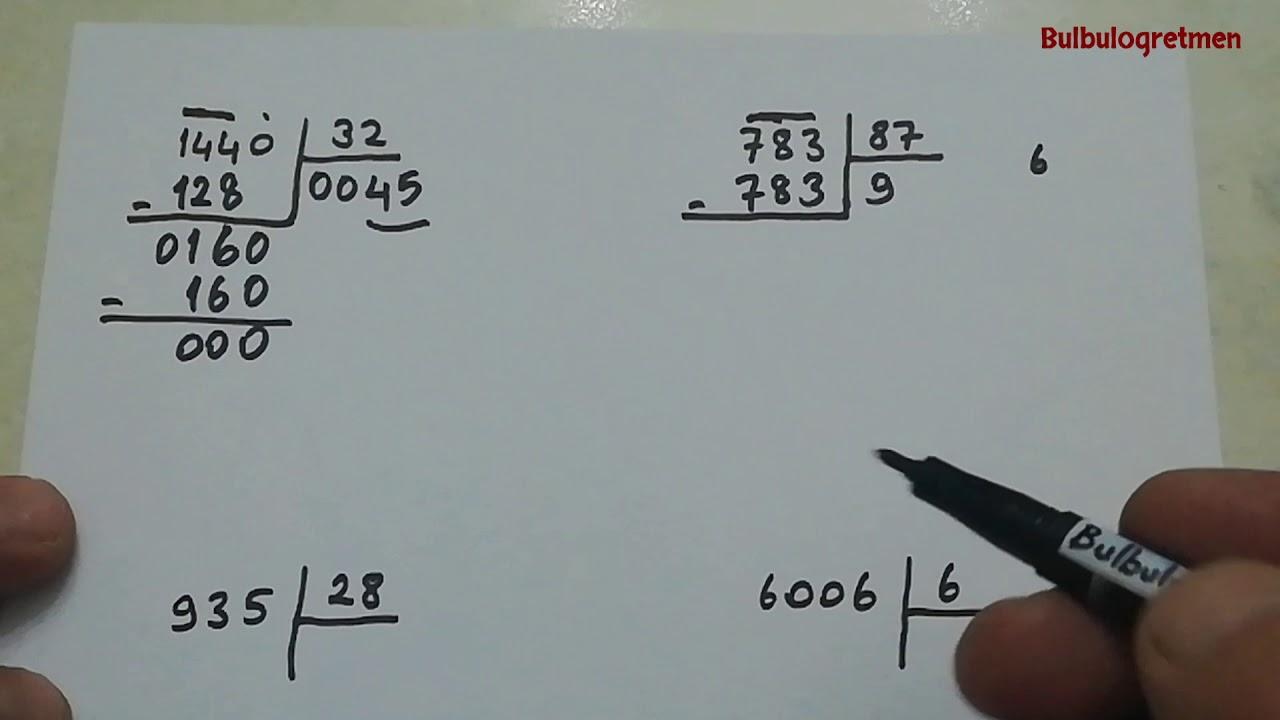 3.sınıf kalanlı bölme işlemi ve sağlaması @Bulbulogretmen #matematik #bölme #kalanlıbölme