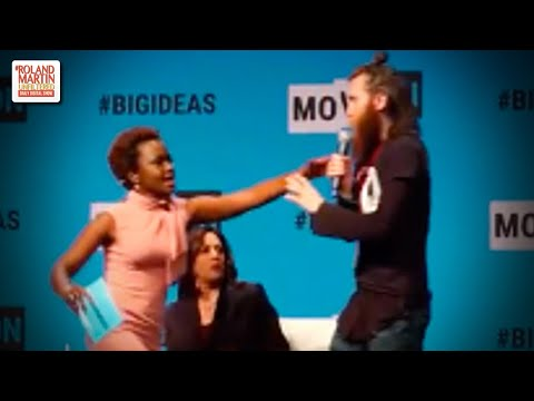 Man Rushes Kamala Harris & Snatches Her Mic, Karine Jean-Pierre ...