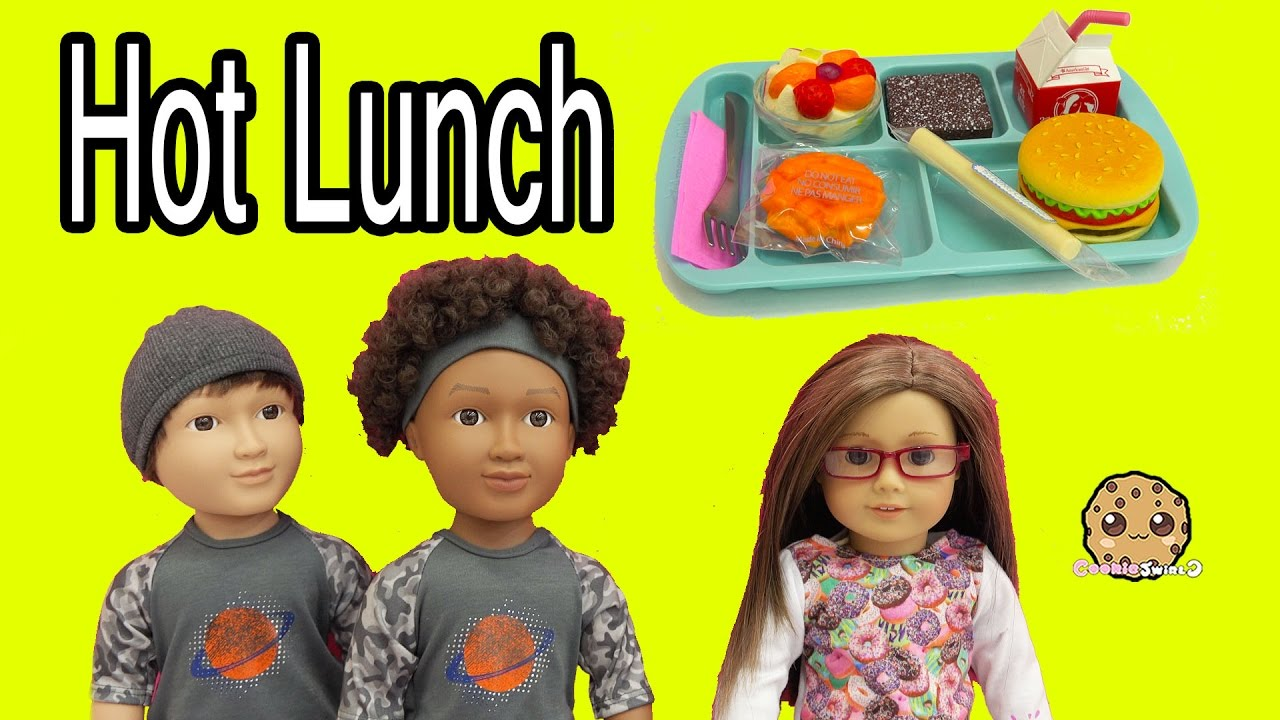 1a686455cc38 My Life As School Boy Dolls + American Girl Hot Lunch Tray Food Set - Toy  Review - YouTube
