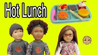 my life as school boy dolls american girl hot lunch tray food set toy review
