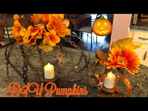 Fall Diy Pumpkins Made With Perforated Hanger Strap 2019