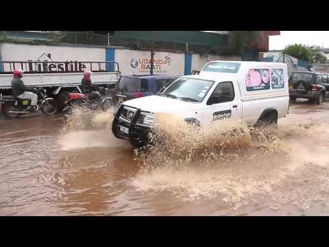 Heavy rain slows down business in Kampala