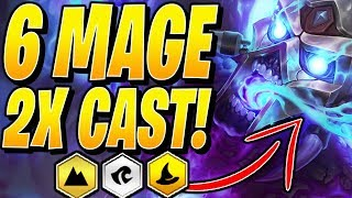 6 MAGE is META! (100% DOUBLE CAST!) - Teamfight Tactics TFT 10.2 Strategy Best Comps Guide SET 2