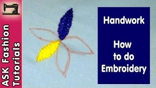 Basic Embroidery Simple Stitch Tutorial | Handwork | in Hindi