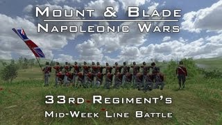Mount & Blade - Napoleonic Wars Line Battle - 33rd Mid week Line battle - 14th August 2013