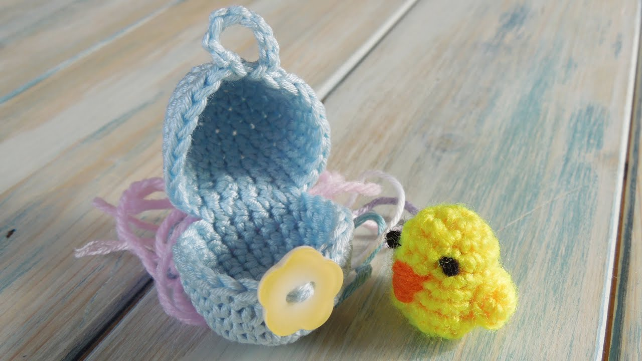Crochet part 1 of 2 how to crochet a mini chick egg yarn crochet part 1 of 2 how to crochet a mini chick egg yarn scrap friday bankloansurffo Images