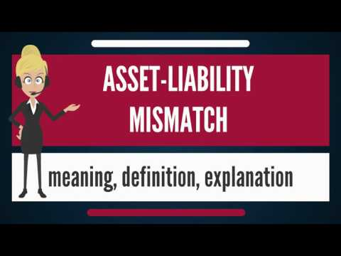What is ASSET-LIABILITY MISMATCH? What does ASSET-LIABILITY MISMATCH mean?