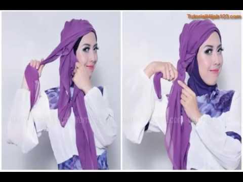 Tutorial Hijab Turban Kepang Sederhana Cantik Dan Gampang Youtube
