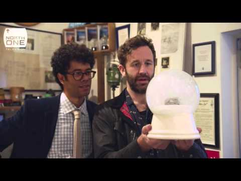 Richard Ayoade & Chris O'Dowd smash and steal Snow Globes  Travel Man S02E01
