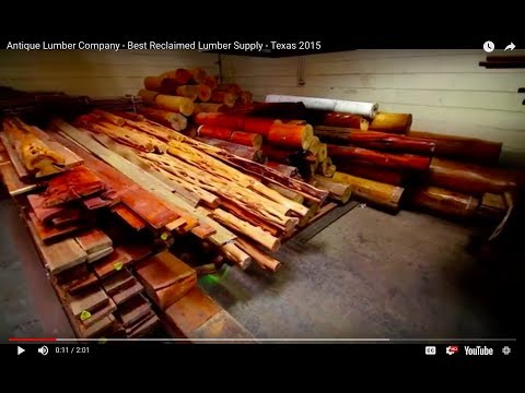 Antique Lumber Company - Best Reclaimed Lumber Supply - Texas 2015