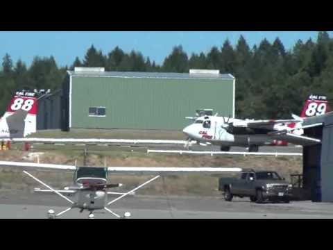 CDF Air Attack S-2 Trackers & OV-10 at Grass Valley