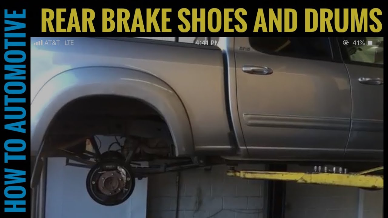 How To Replace The Rear Brake Shoes And Drums On A 2000 2006 Toyota 2007 4runner Wiring Diagram Howtoautomotive Automotiverepair
