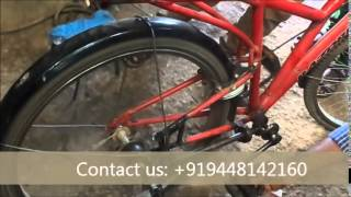 Mechanical / Automobile engg students project----Chainless Bicycle
