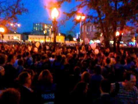 Кудринская площадь. Первые стычки с ОМОНом. 16.05.2012 - #1