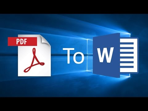 How To Easily Convert A PDF To A Word Document In Windows