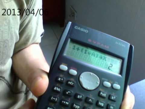 Calcular El Numero De Euler Usando Calculadora Fx82ms